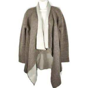 Zara Knit Open Front Waterfall Cardigan Sweater L